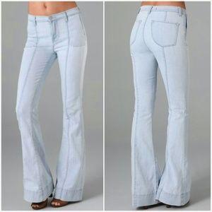 NWT J Brand Loni High Rise Wide Leg Jeans Lt Blue